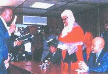 Anambra State Deputy Gov Ugochukwu Nwankwo and Justice CJ Okoli