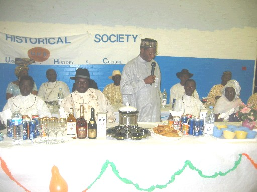 Gamaliel Onosode at an Urhobo Historical Society Function