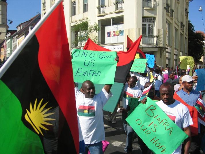 Igbos in Graz, Austria participate in MASSOB Worldwide Demonstration (WWD) of May 27, 5005