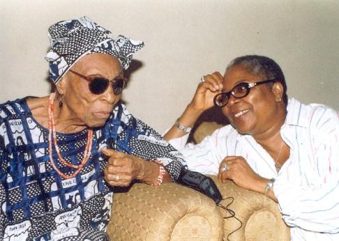 Chief Margaret Ekpo and Onyeka Onwenu