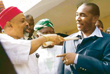 Gov. Chris Ngige and Godfather Chris Ubah