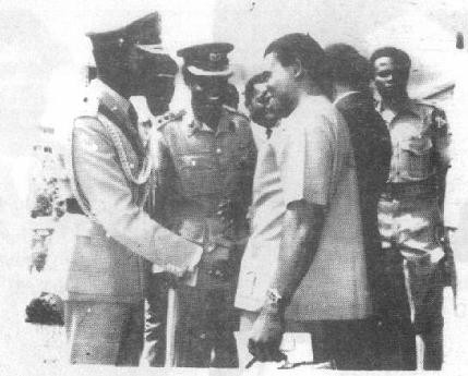 General Effiong and General Gowon at the January, 1970 Armistice