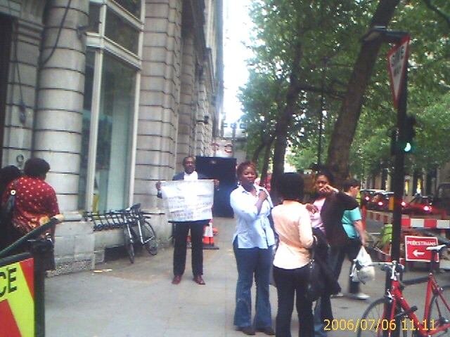 Oyeyemi Olodo, Protest at Nigerian High Commission, London