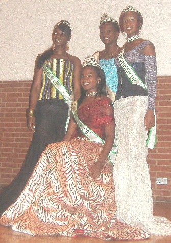 MBNG-UK, Flanked by Runners up and Ms. Ghana, UK