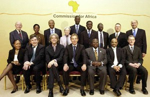 Tony Blair and members of the Commission for Africa