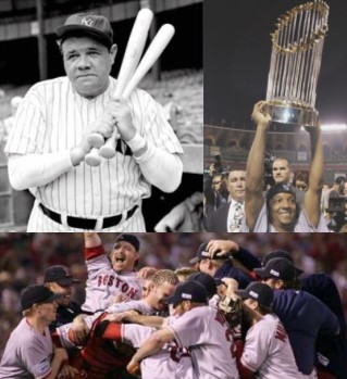 BNW Babe Ruth and the Boston Red Sox, 2004 World Series Champions