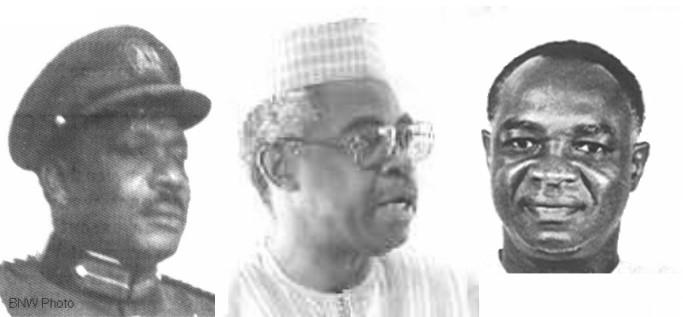 BNW Ironsi, Danjuma and Nwankwo