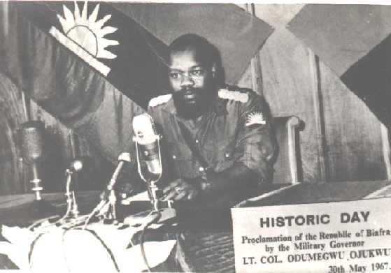 Col. Chukwuemeka Odumegwu-Ojukwu at Biafra Declaration