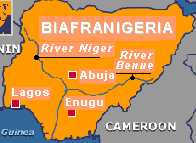 Map of BiafraNigeria