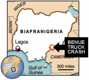 BNW BiafraNigeria Map - Benue Truck Crash