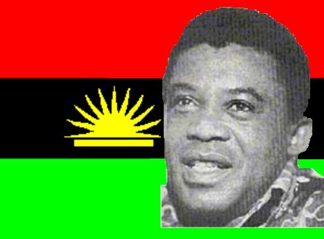 General Effiong in Biafran Flag