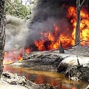 BNW Oil Pipeline Blaze